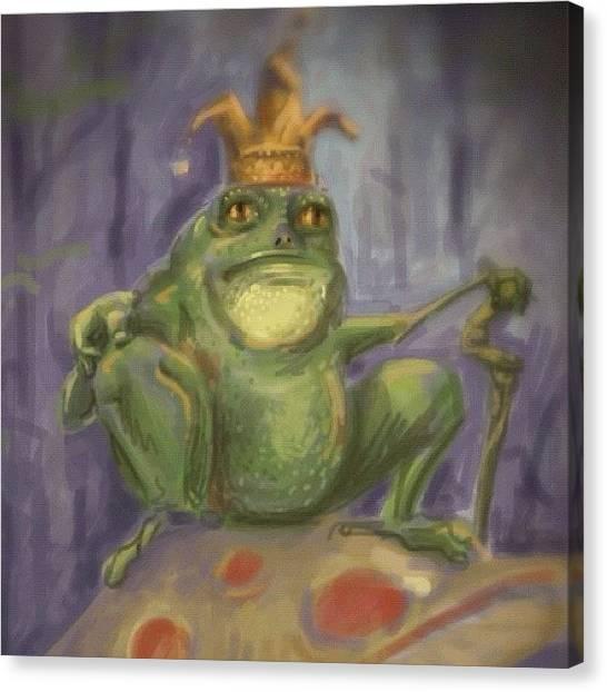 Prince Canvas Print - #frog #prince #sketch by Jeff Reinhardt