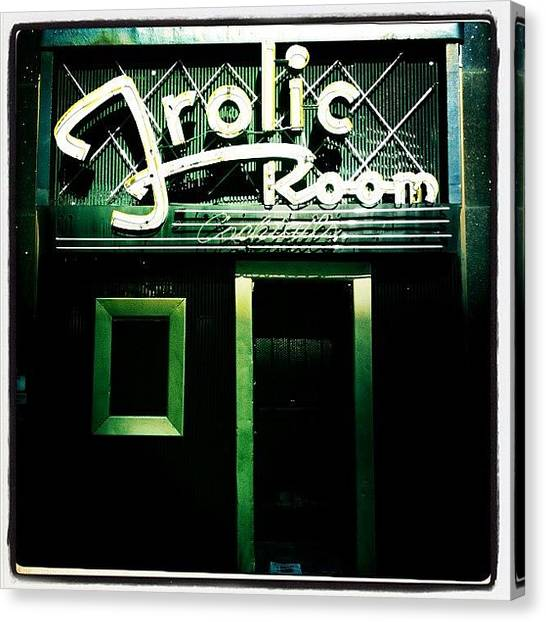 Beer Canvas Print - Frolic Room by Torgeir Ensrud