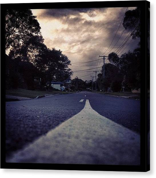 Driving Canvas Print - From A Low Angle by Darren Frankish