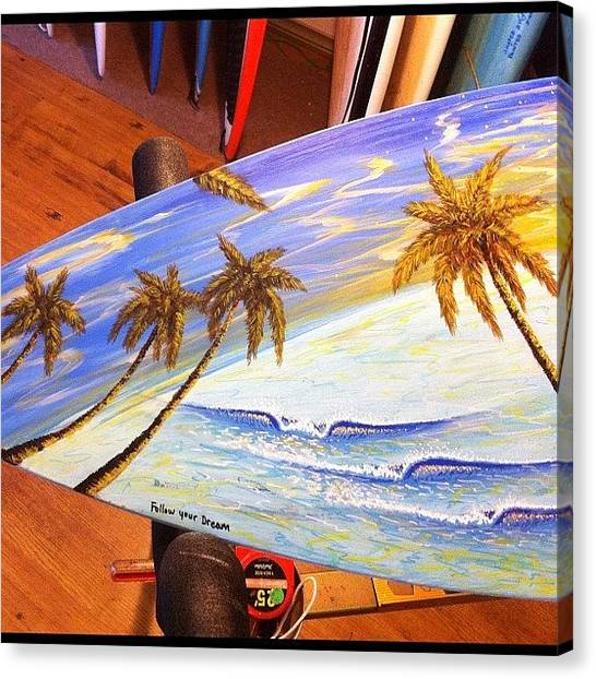 Beach Sunsets Canvas Print - From Black And To The Painted Colors. 1 by Paul Carter