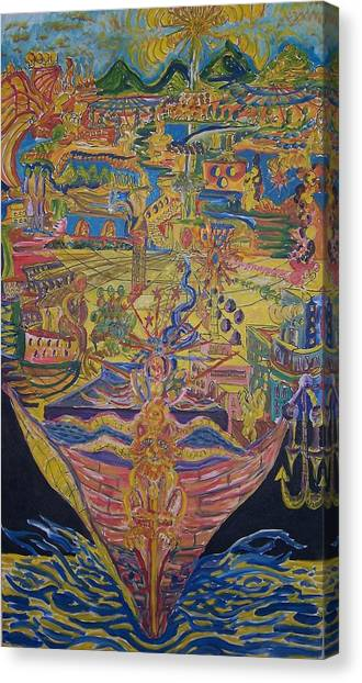 From Land We Sail To See Canvas Print by Timothy  Foley