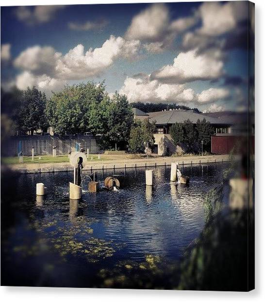 Back Canvas Print - #from #library #window #hometown by Ole Back