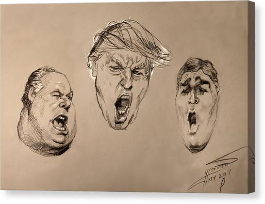 Donald Trump Canvas Print - From My Animal Collection Book by Ylli Haruni