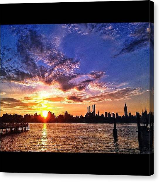 Foxes Canvas Print - From The B Side. #brooklyn #nyc #sunset by Rachel Fox Burson