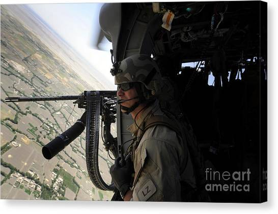 Medivac Canvas Print - From The Side Of An Hh-60g Pave Hawk by Stocktrek Images