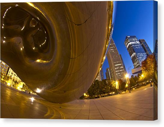 Cloudgate Canvas Print - From Under Cloudgate by Sven Brogren