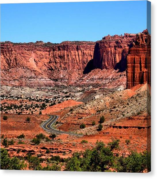 Red Rock Canvas Print - From Utah With Love by Luisa Azzolini