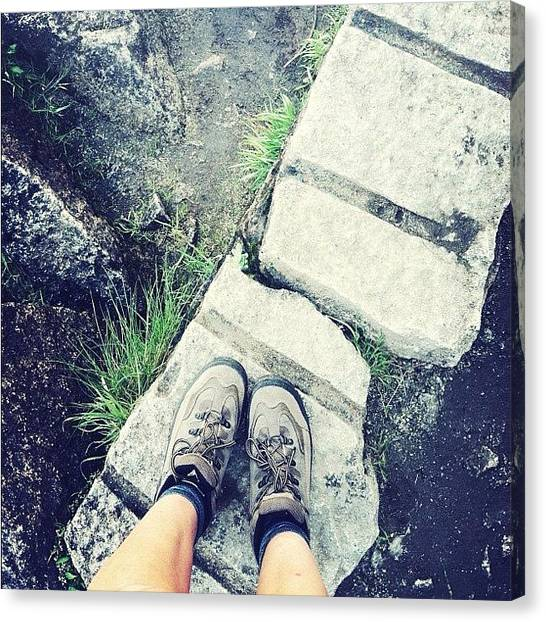 Feet Canvas Print - #fromwhereistand #chasingwaterfalls by Allison Faulkner