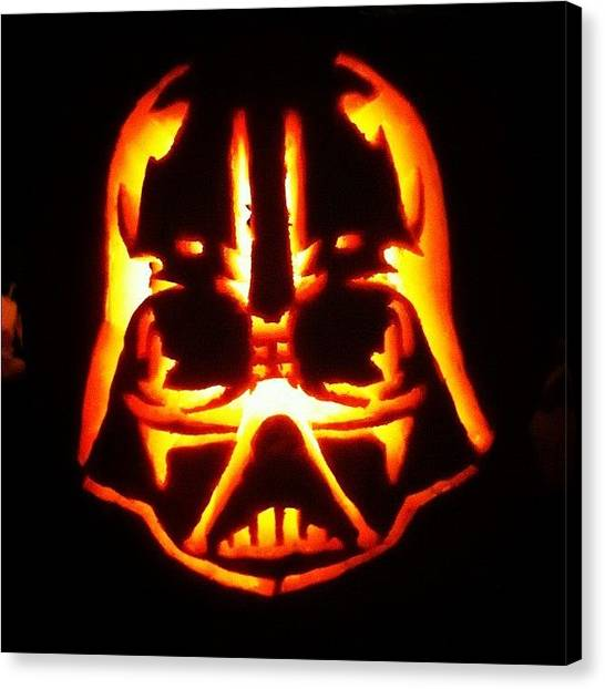 Star Wars Canvas Print - Front Of My First Pumpkin Ever Carved by Joshua Wilson