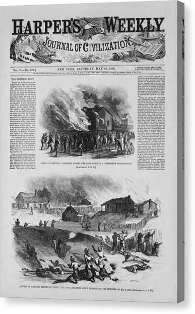 Oppression Canvas Print - Front Page Of A Newspaper Reports by Everett