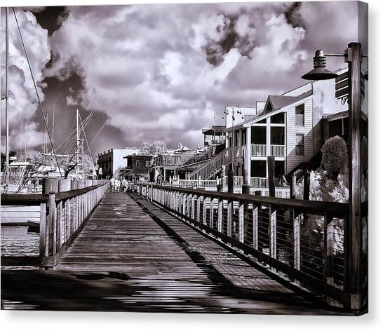 Front Street Boardwalk - Infrared Canvas Print