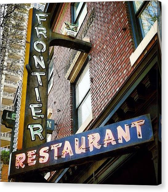 Seattle Canvas Print - Frontier Restaurant by T Catonpremise