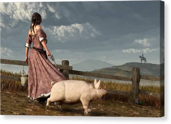 Pig Farms Canvas Print - Frontier Widow by Daniel Eskridge