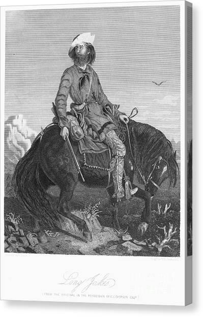 Dea Canvas Print - Frontiersman, C1850 by Granger