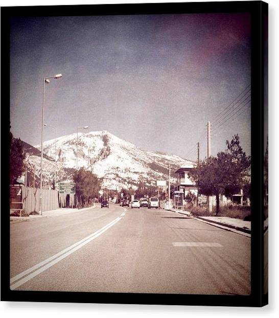 Driving Canvas Print - Frosted Mountain Top by Spyridon Kagkas