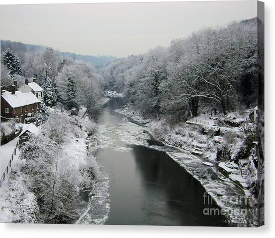 Frosted Trees At Ironbridge Canvas Print