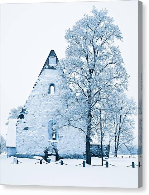 Frosty Ruins Canvas Print