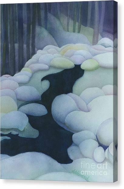 Frozen Brook Canvas Print