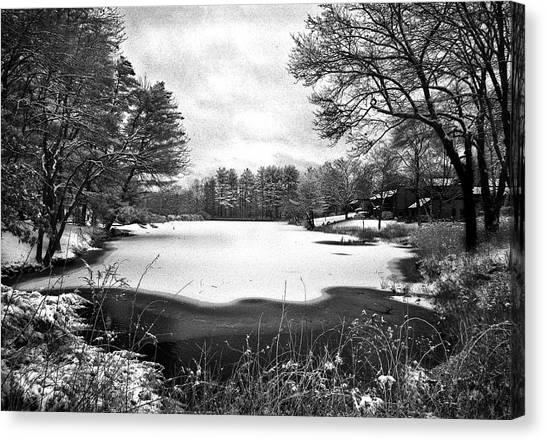 Frozen Lake Canvas Print by Ercole Gaudioso