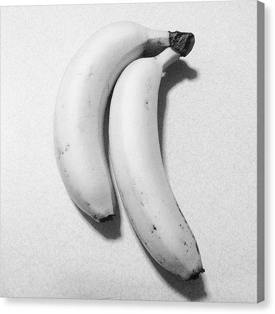 Bananas Canvas Print - #fruit #banana #food #dessert #foodporn by Jerry Tang