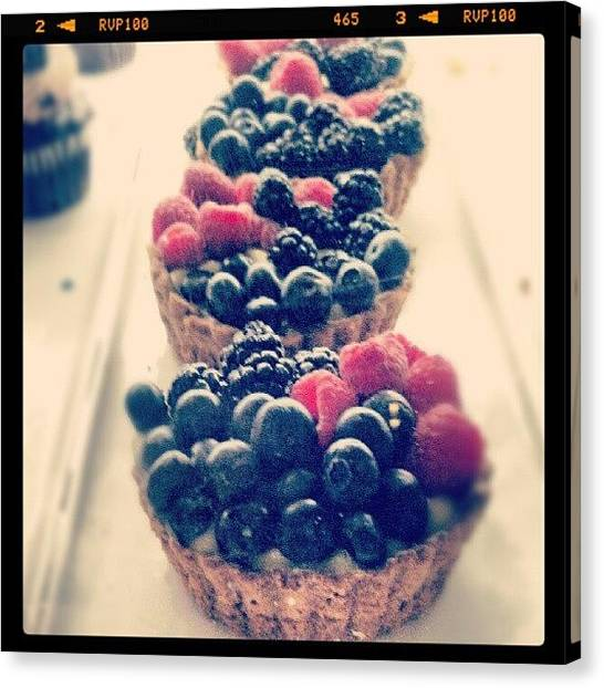 Berries Canvas Print - #fruit #berries #dessert by Natalia D