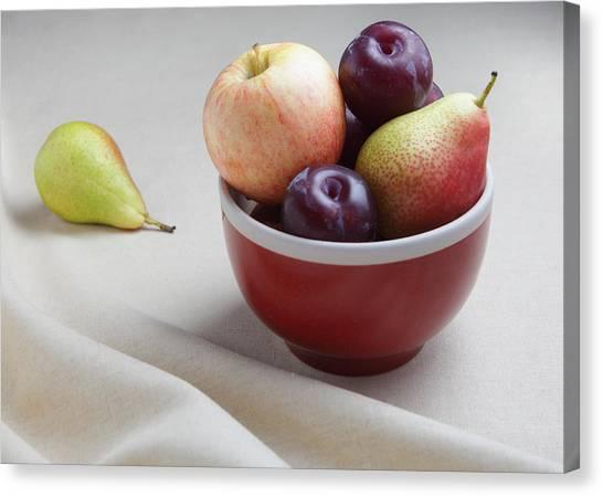 Fruit Bowl Still Life Canvas Print
