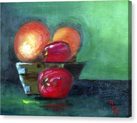 Fruit In A Bowl Canvas Print