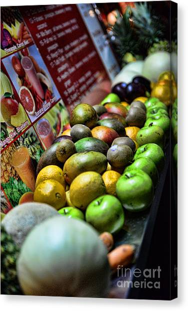 Smoothie Canvas Print - Fruit Stand by Paul Ward