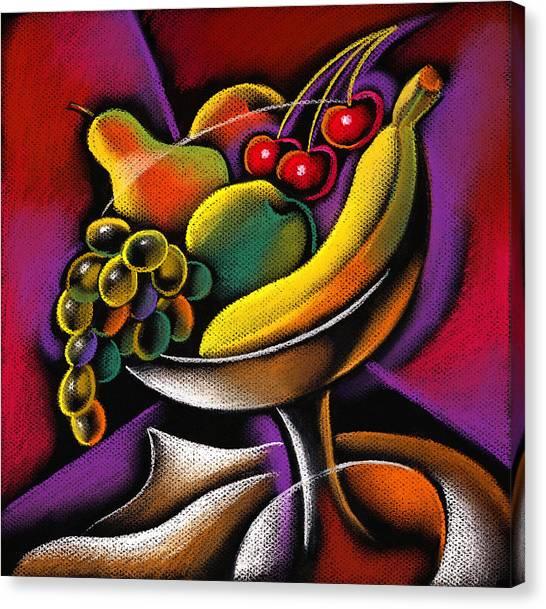 Bananas Canvas Print - Fruits by Leon Zernitsky