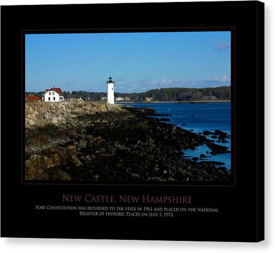 Ft Constitution - Nh Seacoast Canvas Print by Jim McDonald Photography