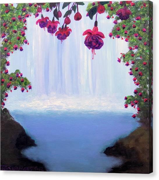 Fuchsia Falls Canvas Print
