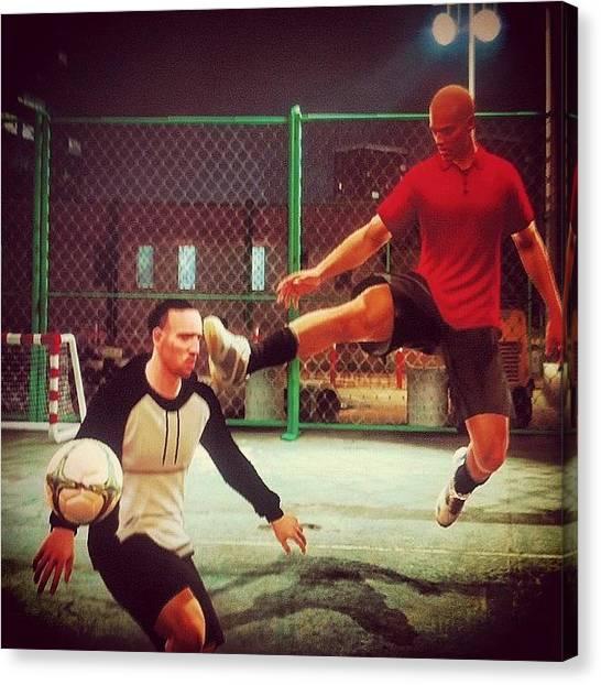 Fifa Canvas Print - Fuck U Ribery! #fifa #fifastreet by Victor Roldan