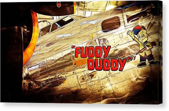 Fuddy Duddy Canvas Print
