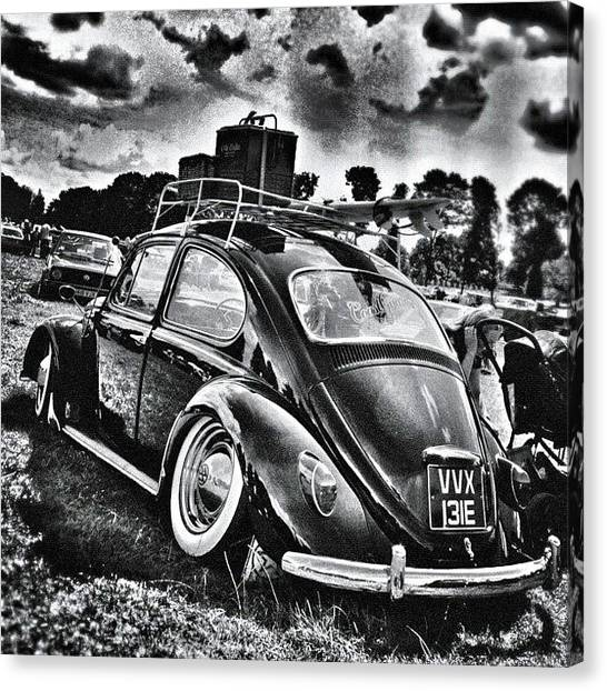 Beetles Canvas Print - #fueledsociety #vw #volkswagen #beetle by Dave Williams