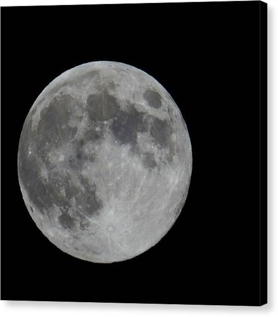 Harvest Canvas Print - Full Moon Over Utah Tonight by Carlos Caceres