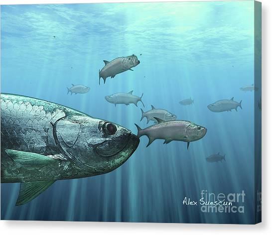 Full Moon Platoon Canvas Print