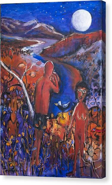 Full Moon Rising Over El Questro Canvas Print
