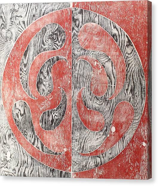 Full Swing Yin Yang Red Canvas Print