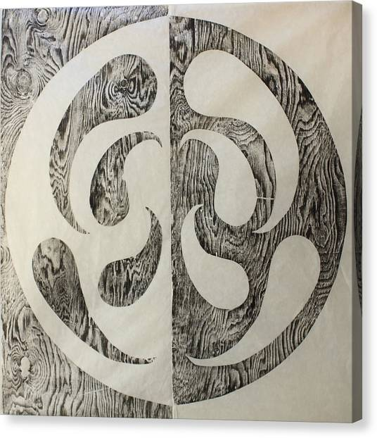 Full Swing Yin Yang Canvas Print