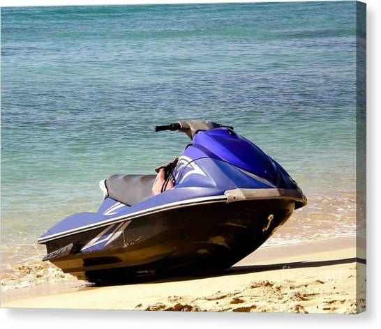 Jet Skis Canvas Print - Fun In The Sun by Sophie Vigneault