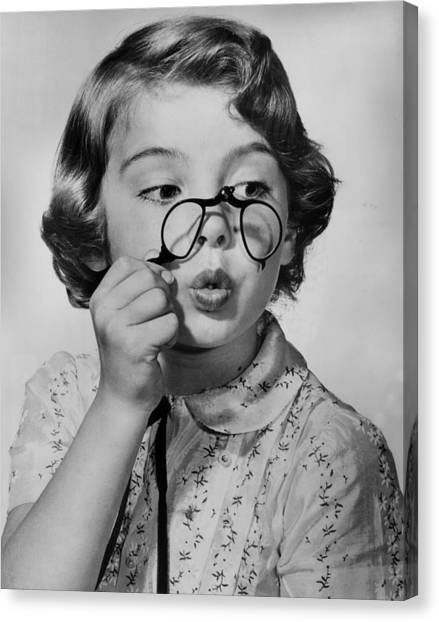 Fun With Pince-nez Canvas Print by Archive Photos