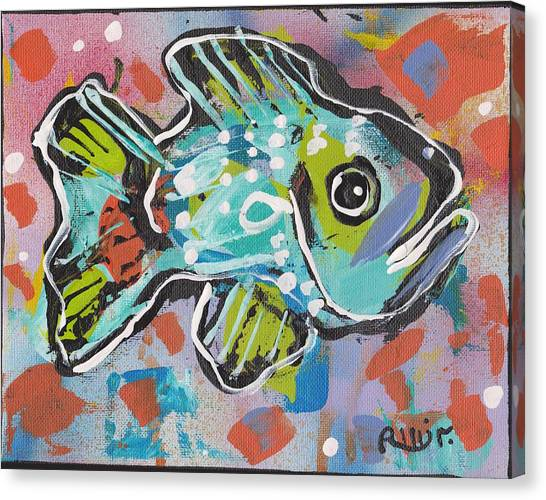 Funky Folk Fish 2012 Canvas Print by Robert Wolverton Jr