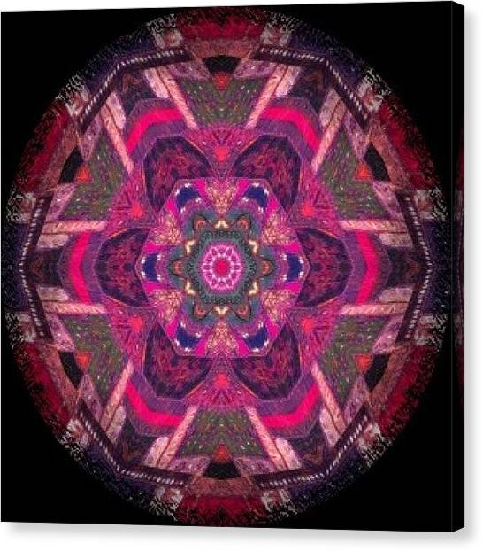 Fractal Canvas Print - Funky #meditating #mandala Pattern On by Pixie Copley