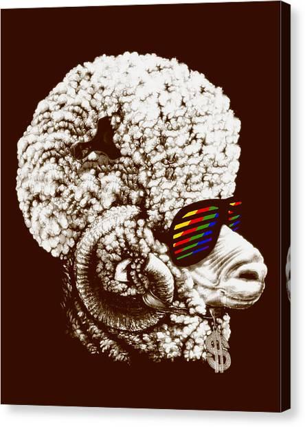 Funky Sheep Canvas Print by Bojan Bundalo