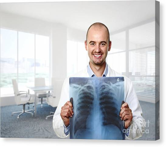 Funny Doctor Canvas Print