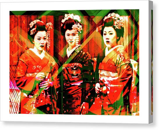 Gaisha Canvas Print by Francesco Valentino