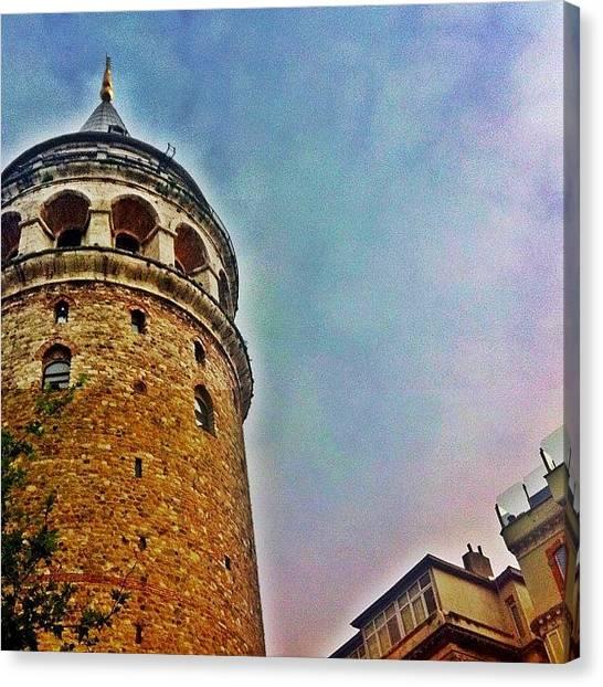 Turkish Canvas Print - Galata Tower #istanbul by Tunc Dindas