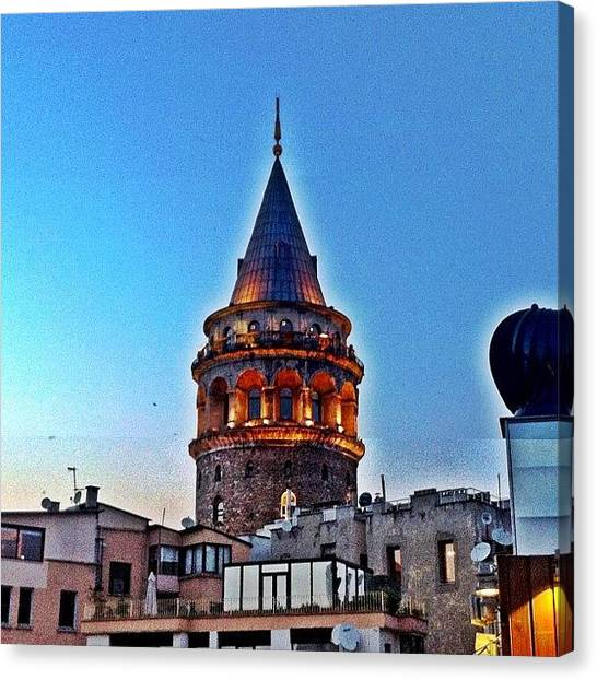 Turkish Canvas Print - #galatatower #istanbul by Tunc Dindas