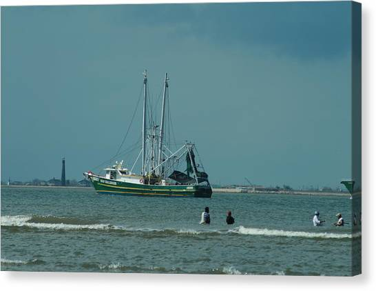 Galveston Fishing Canvas Print