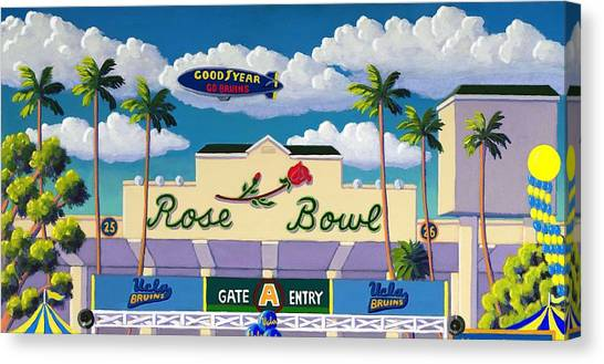 Ucla Canvas Print - Game Day by Frank Strasser
